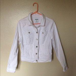 Old Navy White Denim Jacket, Sz Large